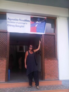 Annette @ Chirag's exhibition @ Nepal Art Council Gallery