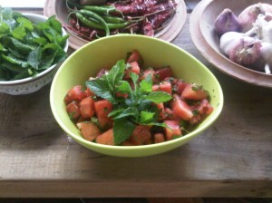 Pia Dam's fantastic Water Melon Salad.
