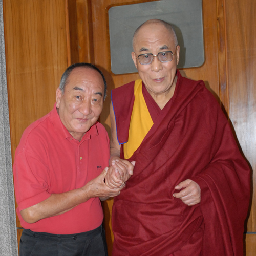 Lakha LAma with HH Dalai Lama