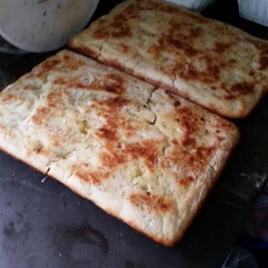 Focacia Bread for our sandwiches