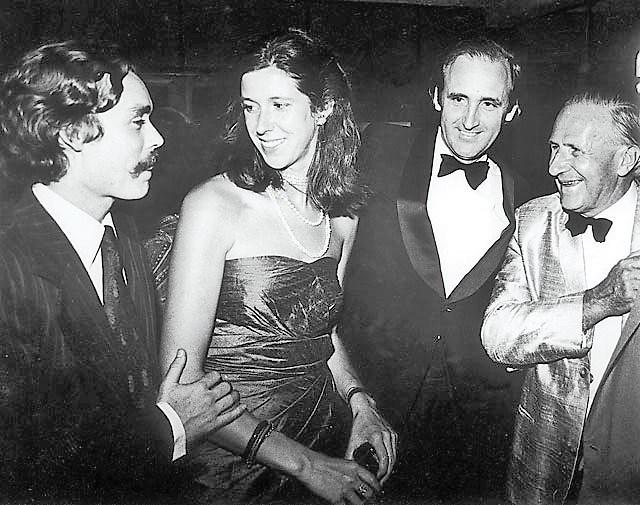At the party Alexander Lisanevitch (Boris' son) Lisa Choegyal, Jim Edwards and Toni Hagen. (2)